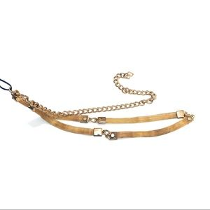Lane Bryant gold chain belt brand new